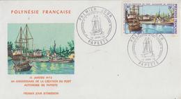 Enveloppe  FDC  1er  Jour  POLYNESIE   10éme  Anniversaire  Du   Port   Autonome  De  Papeete  1972 - FDC