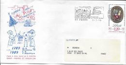 ST PIERRE - RENAISSANCE DE L'ÎLE AUX MARINS Sur Lettre, Illustration Concordante Au 11-7-89 - Lettres & Documents