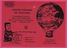 Grand Lâcher De Ballons - Le Flesselles - Montgolfière - Lyon - Crédit Agricole Mutuel Du Sud Est - Salon Carte Postale - Globos