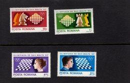 611976463 ROMANIA 1980 ** MNH SCHAAK ECHEC CHESS SCHACH SCOTT 2973 2974 2975 2976 - Chess