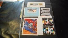 F1004 LOT FEUILLES TIMBRES BLOCS FEUILLETS DDR A TRIER BELLE COTE POIDS 0.570KG DÉPART 10€ - Collections (with Albums)