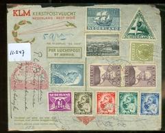 L.P. * DE SNIP * KLM * BRIEFOMSLAG Gelopen In 1934 SERIE 270-73 Van AMSTERDAM Naar SURINAME / CURACAO (11.247) - 1891-1948 (Wilhelmine)