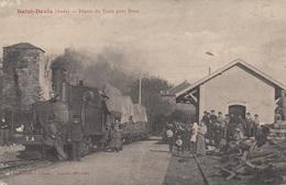 CARTE POSTALE DE SAINT DENIS  / GARE / TRAIN / CHEMIN DE FER - France