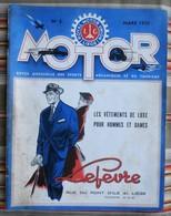 Revue MOTOR  N° 3 1955 Royal Motor Union LIEGE PUB - Auto/Moto