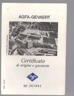 U3245 CERTIFICATO DI GARANZIA MACCHINA AGFAMATIC 300 SENSOR - Other