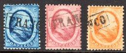 NVPH 4-6 Nederland Gestempeld 2e Emissie 1864 Pays Bas Willem III - Oblitérés