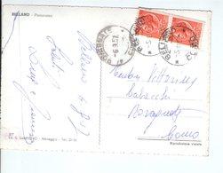 U3248 Annullo D'arrivo E Partenza: ROVAGNATE  E BELLANO 1957 SU CARTOLINA _ Storia Postale - 6. 1946-.. Repubblica