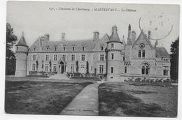 (RECTO / VERSO) ENVIRONS DE CHERBOURG EN 1914 - N° 157 - MARTINVAST - LE CHATEAU - CPA VOYAGEE - France