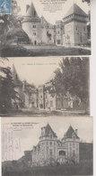 LOT  3 CPA CHATEAUX   CAMPAGNAC  A BELVES ET MONRECOURS - Autres Communes
