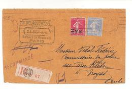 FRANCE / DEVANT DE LETTRE / 1928 - 1921-1960: Période Moderne
