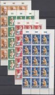 SAAR  441-444, Je 15erEinheit, Postfrisch **, Mit Rechten Eckrändern Und Formnummer, Wohlfahrt 1958 - 1957-59 Bundesland
