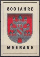 800 Jahre Meerane, Vignette, Werbemarke 1974 (6,5x9,5 Cm, Matt) - Erinnophilie