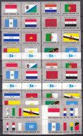 UNO  NEW YORK  579-594, Zd-Paare Und Herzstücke,  Postfrisch **, Komplett, Flaggen 1989 - New York -  VN Hauptquartier