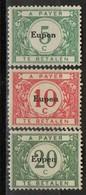 PIA - BEL - 1920 - Segnatasse  Del 1919-20 Sovrastampati EUPEN   -  (Yv 1-5) - Timbres