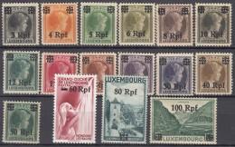 DR LUXEMBURG 17-32, Postfrisch *, 1940 - Besetzungen 1938-45