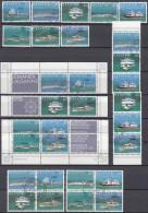 SCHWEIZ  1120-1127, Gestempelt, Sämtliche Zusammendruckmöglichkeiten, LEMANEX '78 - Zusammendrucke