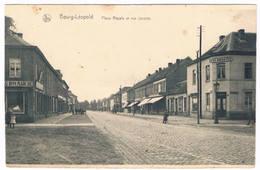 Bourg-Léopold - Place Royale Et Rue Jacolet 1922 (Geanimeerd) - Leopoldsburg