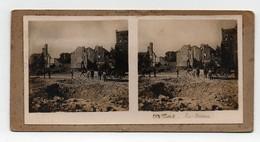 Ancienne CARTE Vue Stéréoscopique Guerre 1914-18 Albert Les Ruines - Photos Stéréoscopiques