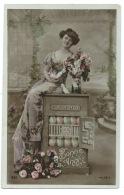 CPA BONNE ANNEE COFFRE FORT  AVEC FEMME / 1909 / REVENTIN VAUGRIS ISERE - Anno Nuovo