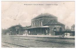 Bourg-Léopold - L'Intérieur De La Gare 1913  (Geanimeerd) - Leopoldsburg