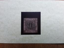 ANTICHI STATI TEDESCHI 1851 - BADEN N.4 Timbrato + Spese Postali - Baden
