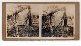 Ancienne CARTE Vue Stéréoscopique Guerre 1914-18 Bataille De La Somme Village De Curlu - Stereoscoop