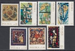 Poland 1971 - Stained Glass Windows - Part Set Mi 2102-2107, 2109 ** MNH - Vetri & Vetrate
