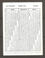 02 AISNE CHAUNY ELF ATOCHEM CALENDRIER PLANNING 1996 - MANGIN FERRANDIERE BAUDRON GAUDET MARCHETTI - Calendars