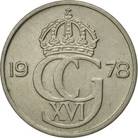 Monnaie, Suède, Carl XVI Gustaf, 50 Öre, 1978, TTB, Copper-nickel, KM:855 - Suède