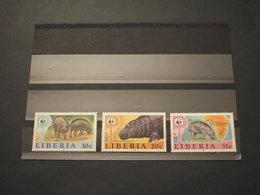 LIBERIA - 1984 IPPOPOTAMI 3 VALORI - NUOVI(++) - Liberia