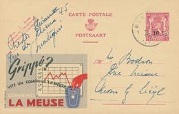 ZZ929 - Entier Publibel No 621 Surchargé Moins 10 % MONTEGNEE 1946 - Thème Médicament - Publibels