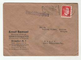 1944 DRESDEN Advert ARYAN SEED HOUSE COVER Satguthaus SeitGrundung Arisch Ernst Samuel SLOGAN WHEAT SWORD Germany Food - Germany