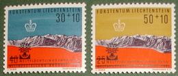 Liechtenstein 1960: Weltflüchtlingsjahr Année Réfugies W27-28 Mi 389-390 Yv 391-392 ** MNH  (Zu CHF 4.00) - Liechtenstein