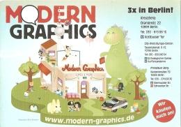 BD - Flyer - Modern Graphics - Berlin (ill. Sylvia Portella) - Bücher, Zeitschriften, Comics