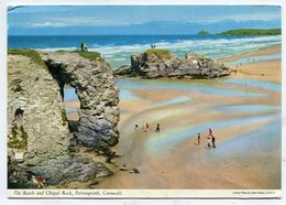 ENGLAND -  AK 328967 Cornwall - The Beach And Chapel Rock - Inghilterra