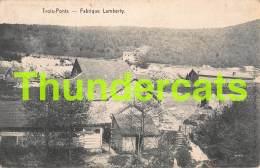 CPA  TROIS PONTS FABRIQUE LAMBERTY - Trois-Ponts
