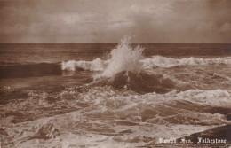 AQ63 Rough Sea, Folkestone - Local Publisher - Folkestone