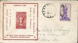36248 U.s.a.  Circuled Cover 1938 St. Benedict, Saint Benedict Post Office Louisiana, - Christianisme