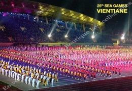 Laos - C P M De Stade  LAOS VIENTIANE National Stadium Stade Estadio  Lot De 03 Cartes Postales. - Laos