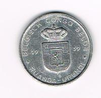 &  BELGISCH CONGO   BELGE - RUANDA  URUNDI   1 FRANC  1959 - Congo (Belge) & Ruanda-Urundi