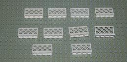 LEGO Lot 10 X Barrière Blanche Ref 3185 1x4x2 - Lego Technic