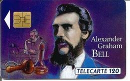 Télécarte GRANDES FIGURES DES TELECOMMUNICATIONS 120 U - Graham BELL ( SO3 - 03/93 - N° 293 I) - Frankrijk