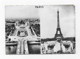 CPSM 75 PARIS La Tour Eiffel Palais De Chaillot EMA Rouge Souvenir Du Sommet 1966 - Tour Eiffel