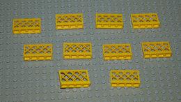 LEGO Lot 10 X Barrière Jaune Ref 3185 1x4x2 - Lego Technic