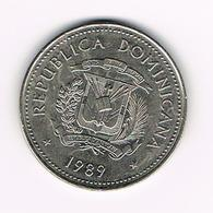 &  DOMINICAANSE  REPUBLIEK  1/2  PESO  1989 - Dominicaine