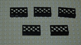 LEGO Lot 5 X Barrière Noire Ref 3185 1x4x2 - Lego Technic