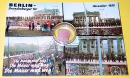 Carte Postale Neuve Chute Du Mur De Berlin Novembre 1989 Brandenburger Tor Die Mauer Muß Weg! - Muro Di Berlino