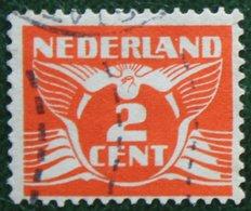 2 Ct Vliegende Duif Perf. 12 1/2  NVPH 173 A (Mi 174 A) 1926 Gestempeld / USED NEDERLAND / NIEDERLANDE - 1891-1948 (Wilhelmine)