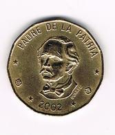 &-  DOMINICAANSE  REPUBLIEK  1 PESO  2002 - Dominicaine