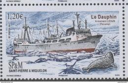 ST. PIERRE ET MIQUELON, SPM, 2017, MNH, SHIPS, SEALS, LE DAUPHIN, 1v - Ships